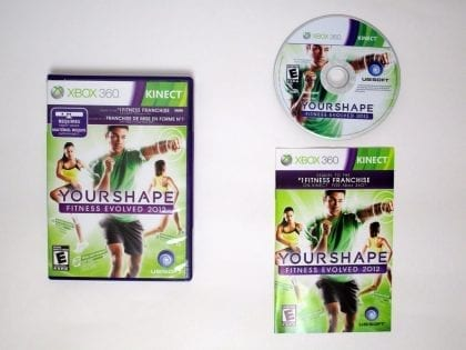 Your Shape: Fitness Evolved 2012 game for Microsoft Xbox 360 -Complete