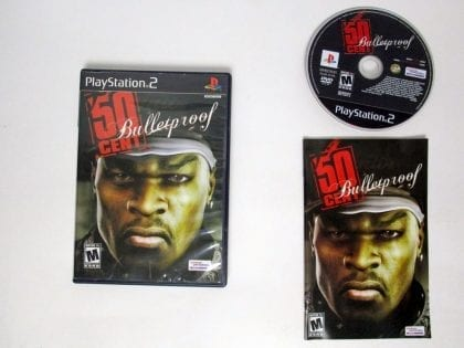 50 Cent Bulletproof game for Sony Playstation 2 PS2 -Complete