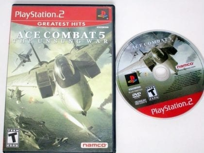 Ace Combat 5 Unsung War game for Sony Playstation 2 PS2 -Game & Case