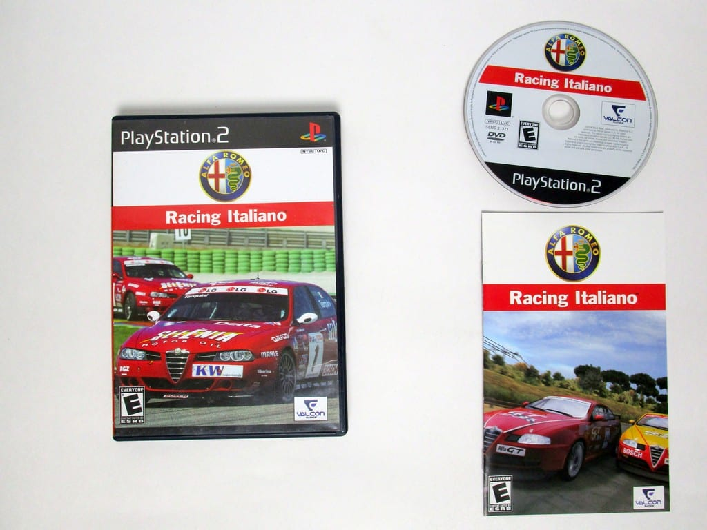 Alfa Romeo Racing Italiano game for Sony Playstation 2 PS2 -Complete