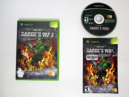 Army Men Sarge's War game for Microsoft Xbox -Complete