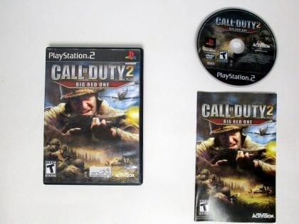 Call of Duty 2 Big Red One game for Sony Playstation 2 PS2 -Complete