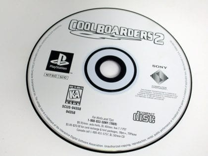Cool Boarders 2 game for Sony Playstation PS1 PSX - Loose
