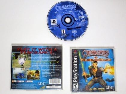 Crusaders of Might and Magic game for Sony Playstation PS1 PSX -Complete