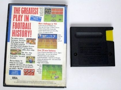 John Madden Football '92 game for Sega Genesis | The Game Guy