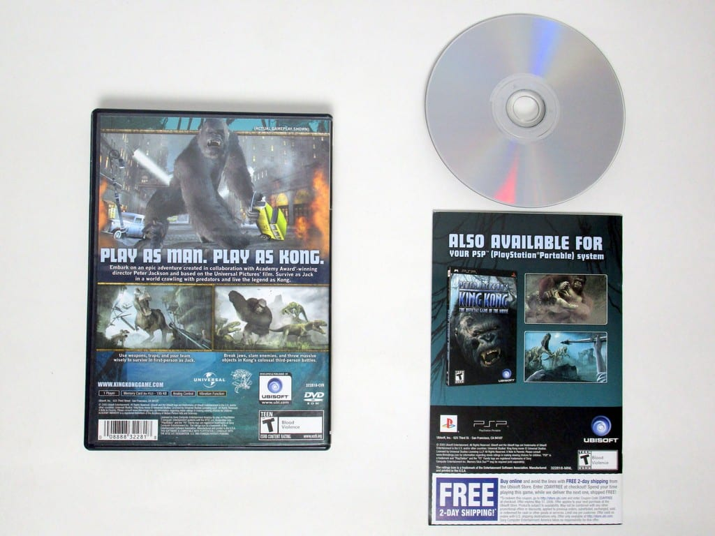 King Kong the Movie game for Playstation 2 (Complete) | The Game Guy