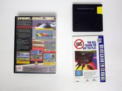 Mario Andretti Racing game for Sega Genesis (Complete) | The Game Guy