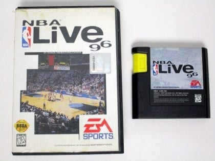 NBA Live 96 game for Sega Genesis -Game & Case