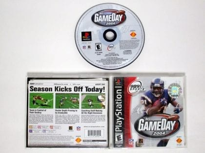 NFL Gameday 2004 game for Sony Playstation PS1 PSX -Complete