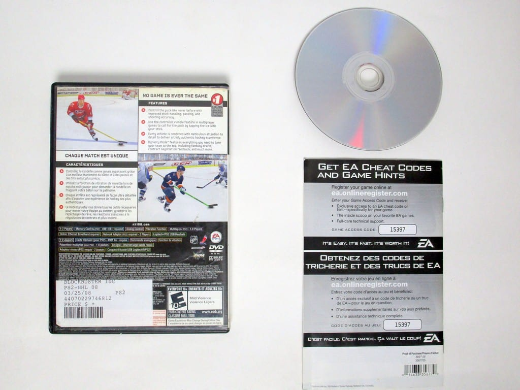 NHL 08 game for Playstation 2 (Complete) | The Game Guy