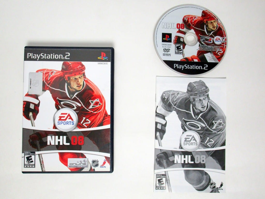 NHL 08 game for Sony Playstation 2 PS2 -Complete