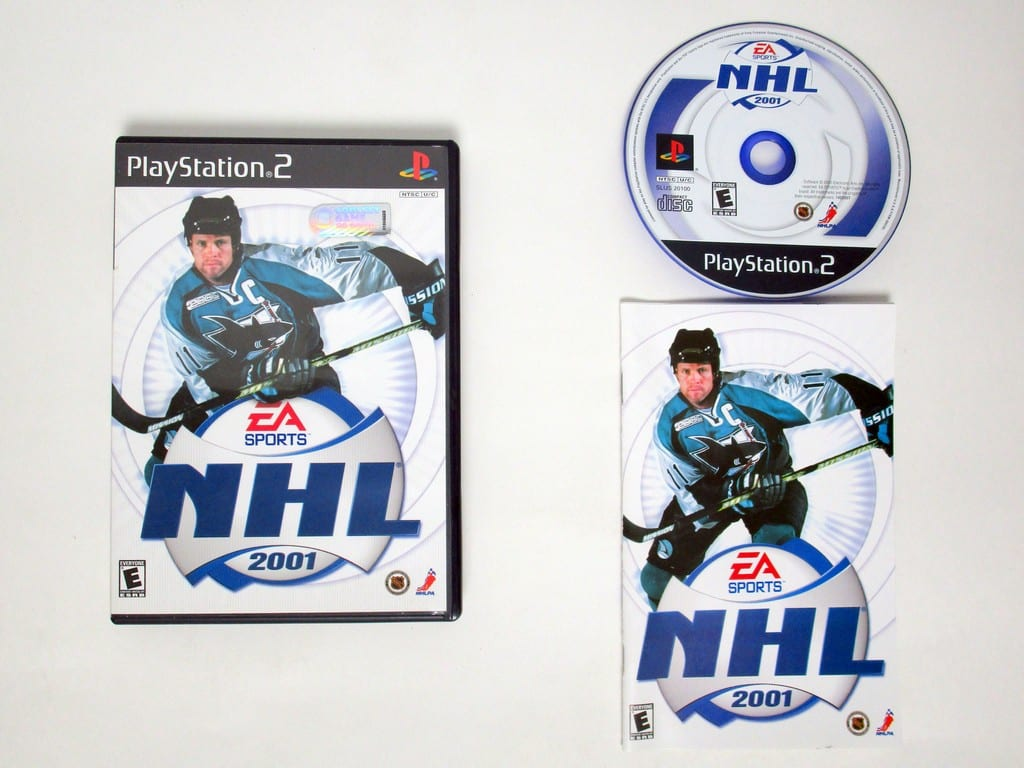 NHL 2001 game for Sony Playstation 2 PS2 -Complete