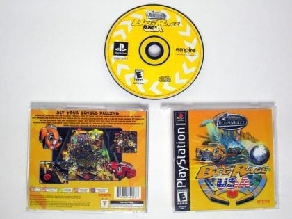 Pro Pinball Big Race USA game for Sony Playstation PS1 PSX -Complete