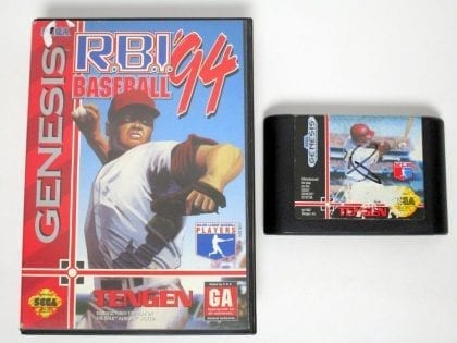 RBI Baseball 94 game for Sega Genesis -Game & Case