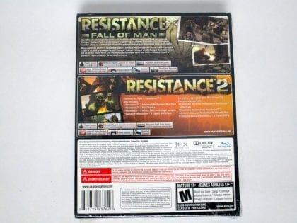 Resistance Greatest Hits Dual Pack game for Playstation 3 (New) | The Game Guy