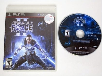 Star Wars: The Force Unleashed II game for Sony Playstation 3 PS3 -Game & Case