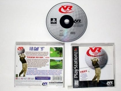VR Golf 97 game for Sony Playstation PS1 PSX -Complete