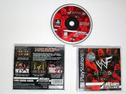 WWF Attitude Get It game for Sony Playstation PS1 PSX -Complete