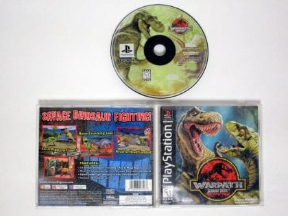 Warpath Jurassic Park game for Sony Playstation PS1 PSX -Complete