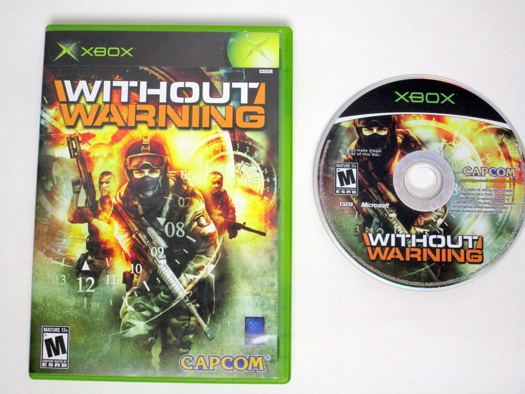 Without Warning game for Microsoft Xbox -Game & Case