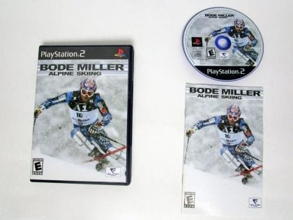 Bode Miller Alpine Skiing game for Sony Playstation 2 PS2 -Complete