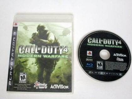 Call of Duty 4 Modern Warfare game for Sony Playstation 3 PS3 -Game & Case