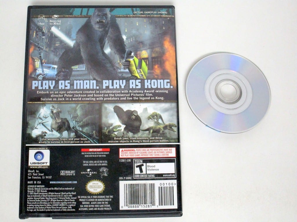 King Kong the Movie game for Gamecube | The Game Guy