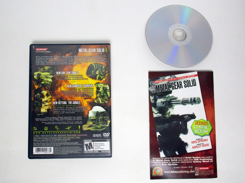 Metal Gear Solid 3 Snake Eater game for Sony Playstation 2 PS2 -Complete