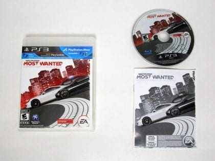Need for Speed Most Wanted (2012) game for Sony Playstation 3 PS3 -Complete