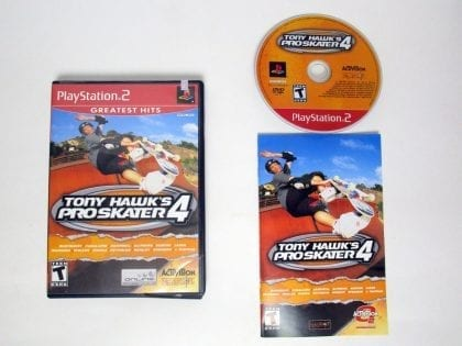 Tony Hawk 4 game for Sony Playstation 2 PS2 -Complete