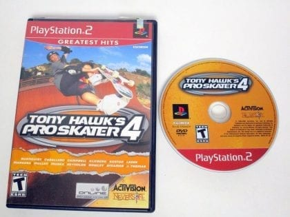Tony Hawk 4 game for Sony Playstation 2 PS2 -Game & Case