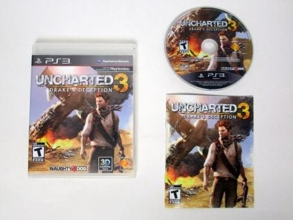 Uncharted 3: Drake's Deception game for Sony Playstation 3 PS3 -Complete