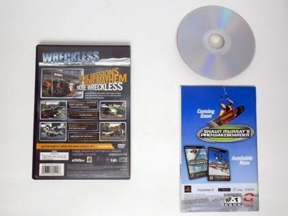 Wreckless Yakuza Missions game for Playstation 2 (Complete) | The Game Guy