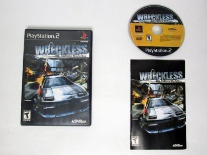 Wreckless Yakuza Missions game for Sony Playstation 2 PS2 -Complete
