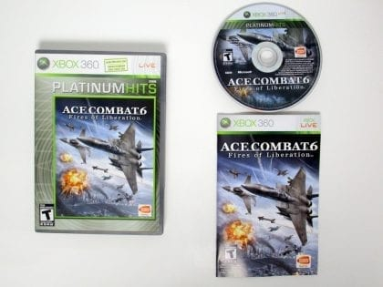 Ace Combat 6 Fires of Liberation game for Microsoft Xbox 360 -Complete