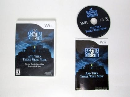 Agatha Christie And Then There Were None game for Nintendo Wii -Complete