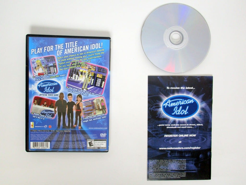 American Idol game for Playstation 2 (Complete) | The Game Guy
