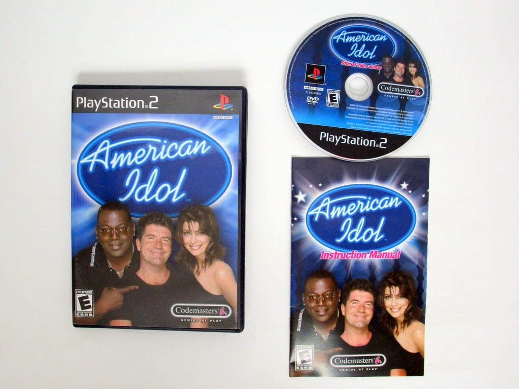 American Idol game for Sony Playstation 2 PS2 -Complete