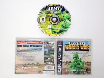 Army Men World War game for Sony Playstation PS1 PSX -Complete