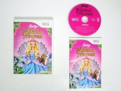 Barbie Island Princess game for Nintendo Wii -Complete