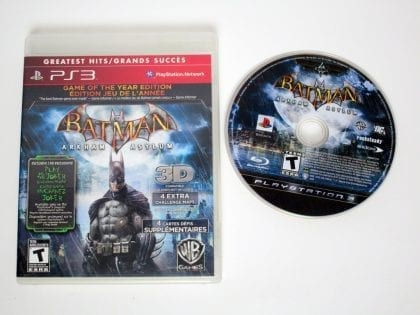 Batman Arkham Asylum Game of the Year Edition game for PS3 Game&Case