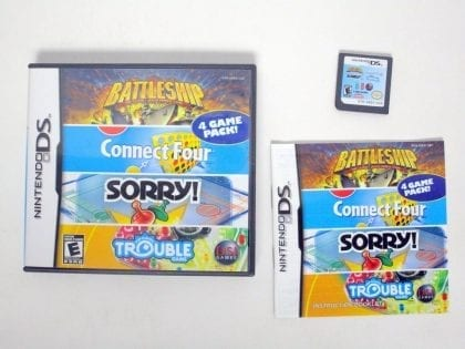 Battleship Connect Four Sorry Trouble game for Nintendo DS -Complete