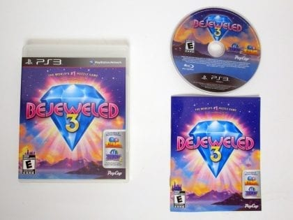 Bejeweled 3 game for Sony Playstation 3 PS3 -Complete