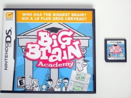 Big Brain Academy game for Nintendo DS -Game & Case