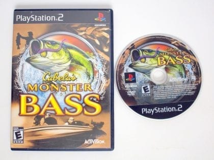 Cabela's Monster Bass game for Sony Playstation 2 PS2 -Game & Case
