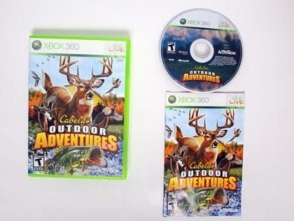 Cabela's Outdoor Adventures 2010 game for Microsoft Xbox 360 -Complete