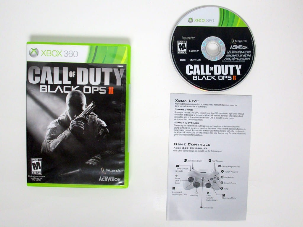 Call of Duty: Black Ops II game for Microsoft Xbox 360 -Complete