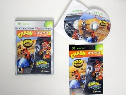 Crash Bandicoot Super Pack game for Microsoft Xbox -Complete