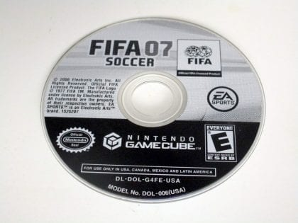 FIFA 2007 game for Nintendo Gamecube - Loose