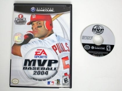 MVP Baseball 2004 game for Nintendo Gamecube -Game & Case